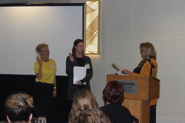 Jacqueline Klein, April Scott and Membership Chair Amy Craig