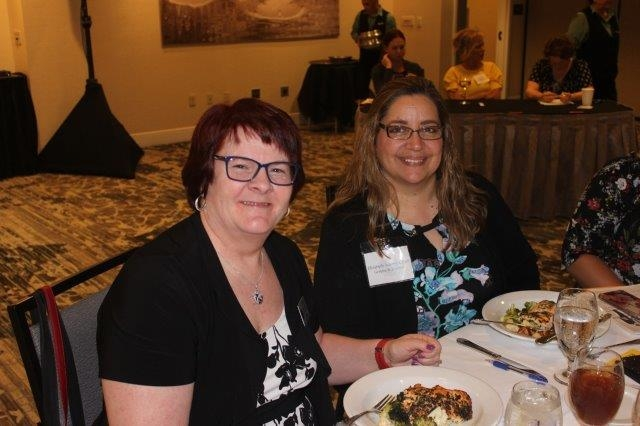 President Judy Johns, CCLS and Secretary Liz Adame, CCLS