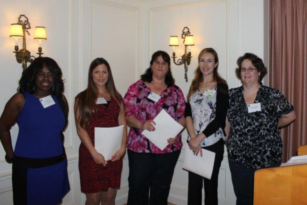 New-Members-Donna Grimes,-Destiny-Crane,-Hilda-Sobhani-and-Marissa-Hickenbottom-and-Membership-Chair-Michele-Mitchell